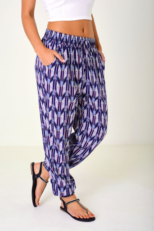 Patterned Leisure Trousers-Fabulous Bargains Galore