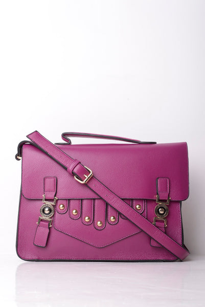Purple Front Design Smart Satchel Bag