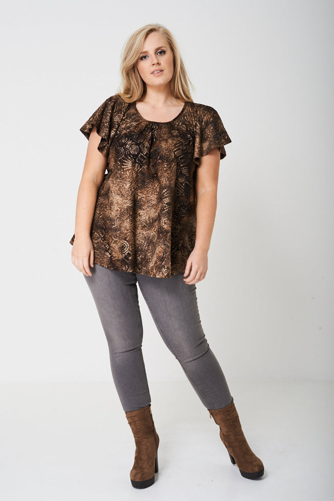 PLUS All Over Sequin Print Top-Fabulous Bargains Galore