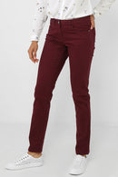 Burgundy Mom Fit Trousers-Fabulous Bargains Galore