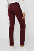 Burgundy Mom Fit Trousers