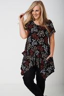PLUS Tunic Top in All-Over Floral Print-Fabulous Bargains Galore