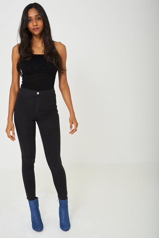 Skinny Jeans in Washed Black-Fabulous Bargains Galore