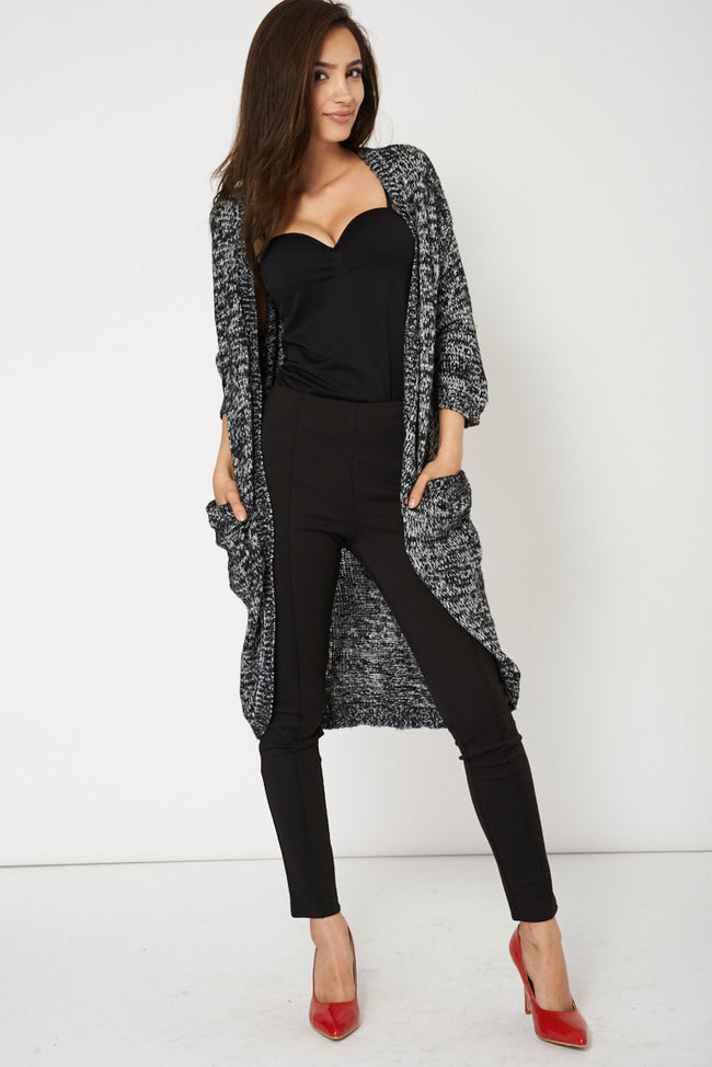 Curved Hem Cardigan With Open Front Design Available In Plus Size-Fabulous Bargains Galore