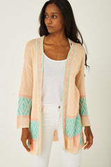 Knitted Tassel Detail Cardigan