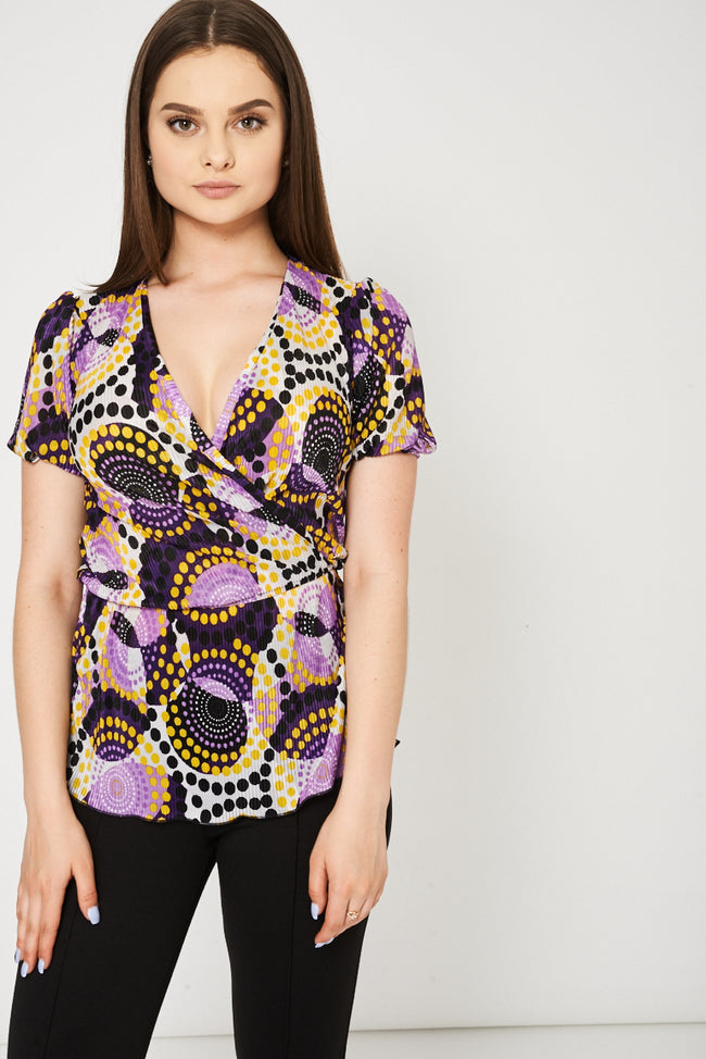 Wrap Front Top Ex-Branded Available In Plus Sizes-Fabulous Bargains Galore