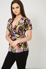 Wrap Front Top Ex-Branded Available In Plus Sizes