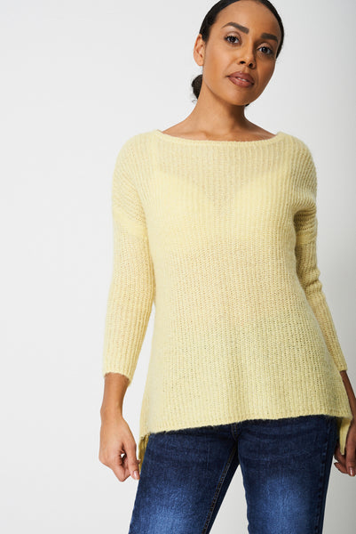 Knitted Mohair-Blend Jumper Ex-Branded