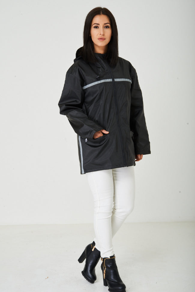 Black Wax Hooded Jacket-Fabulous Bargains Galore