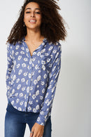 Lightweight Shirt In Floral Print-Fabulous Bargains Galore
