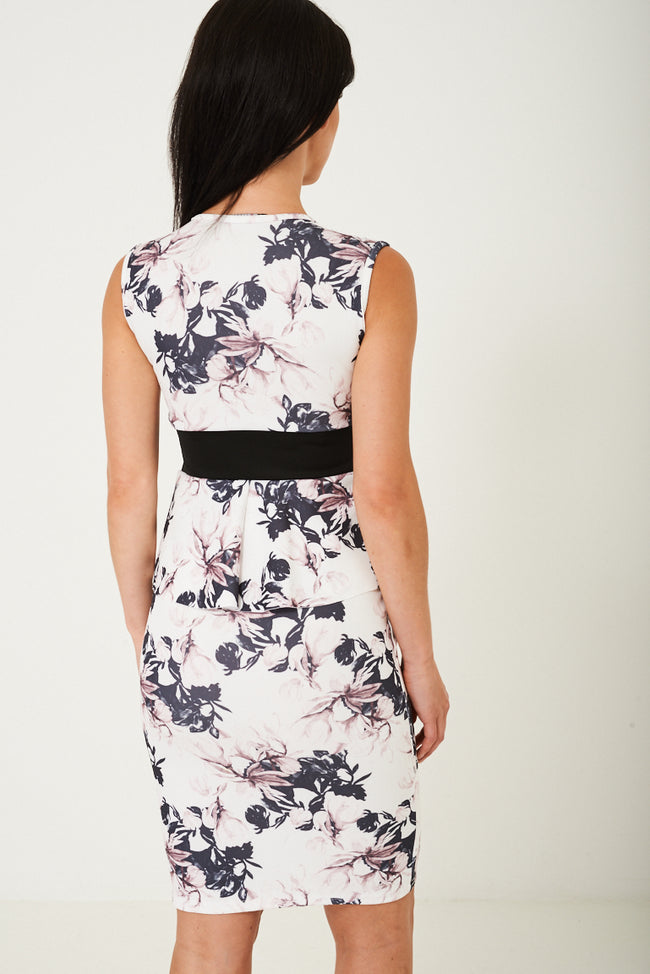 Floral Peplum Dress-Fabulous Bargains Galore