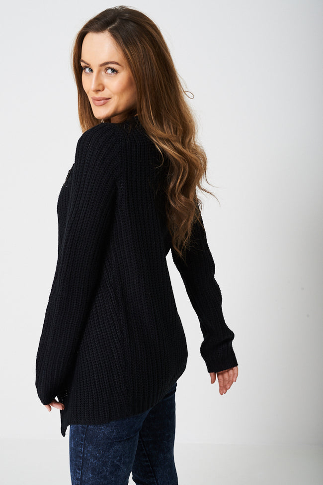 Wrap Front Knitted Cardigan-Fabulous Bargains Galore
