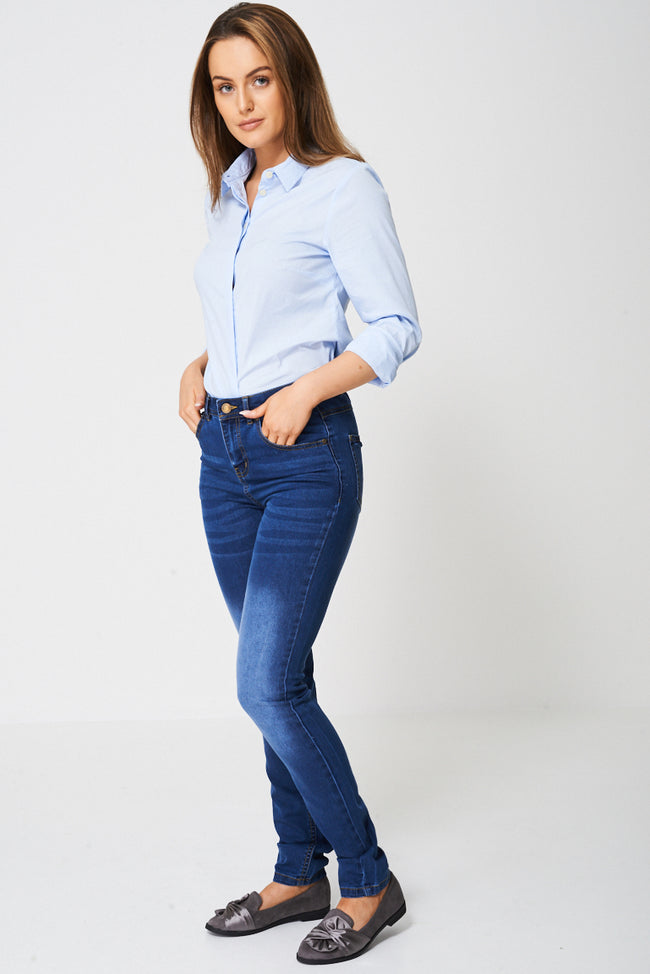 Blue Skinny Jean Ex-Branded-Fabulous Bargains Galore