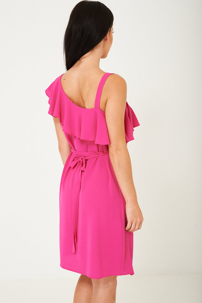 Pink Ruffle Dress Ex Brand-Fabulous Bargains Galore