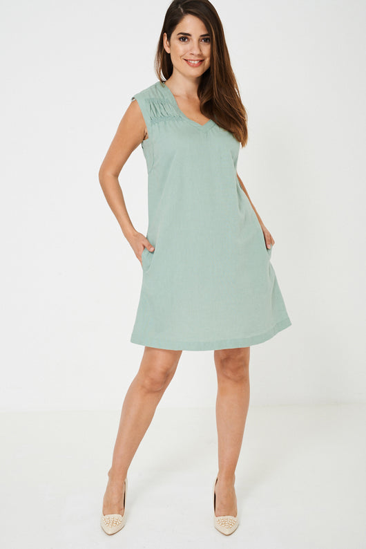 Green Mom Dress Ex Brand-Fabulous Bargains Galore