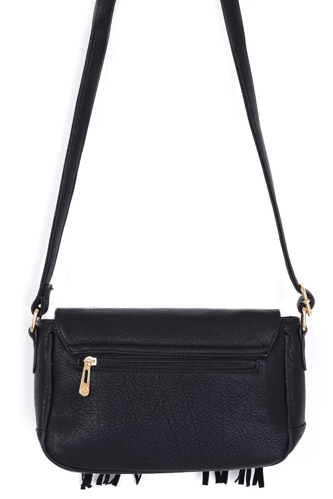 Black Tassel Casual Crossbody Bag-Fabulous Bargains Galore