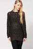 Burnout Wave Neckline Knitted Jumper Ex-Branded