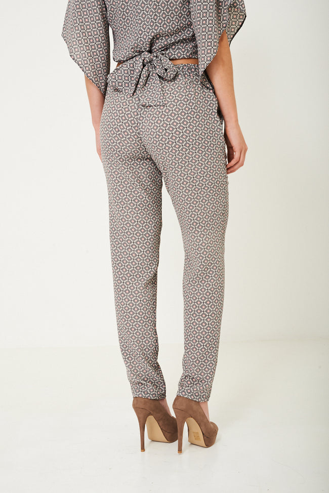 Mix and Match Printed Peg Leg Trousers-Fabulous Bargains Galore