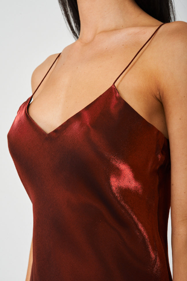 Solid Red Satin Fishtail Maxi Dress-Fabulous Bargains Galore
