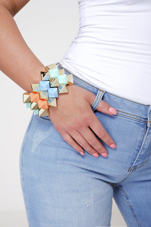 Colorful Spike Bracelet - Fabulous Bargains Galore