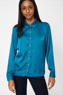 Teal Lightweight Shirt With Front Pockets - Fabulous Bargains Galore