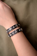 Vintage Inspired Black Leather Cross Bracelet-Fabulous Bargains Galore