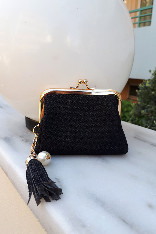 Black Coin Purse with Tassel-Fabulous Bargains Galore