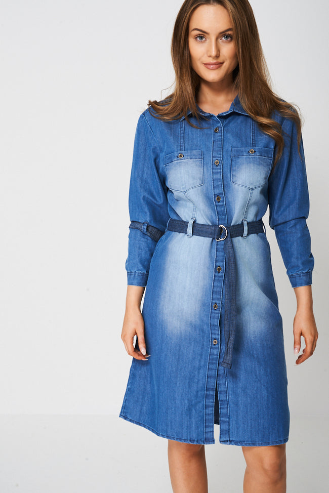 Denim Shirt Dress Ex-Branded-Fabulous Bargains Galore