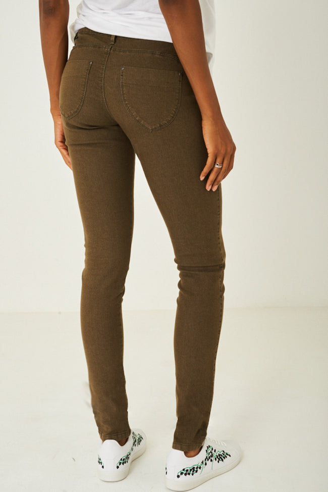 Khaki Regular Cut Jeans-Fabulous Bargains Galore