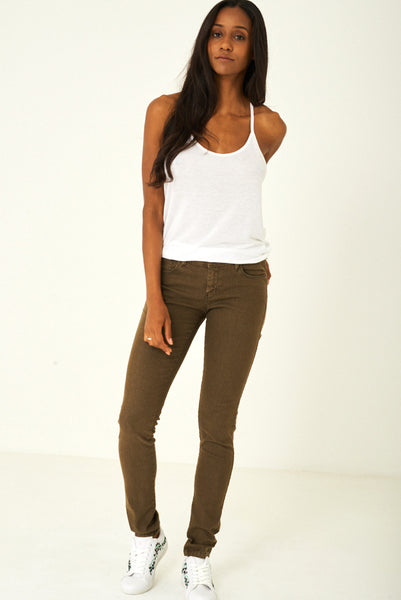 Khaki Regular Cut Jeans