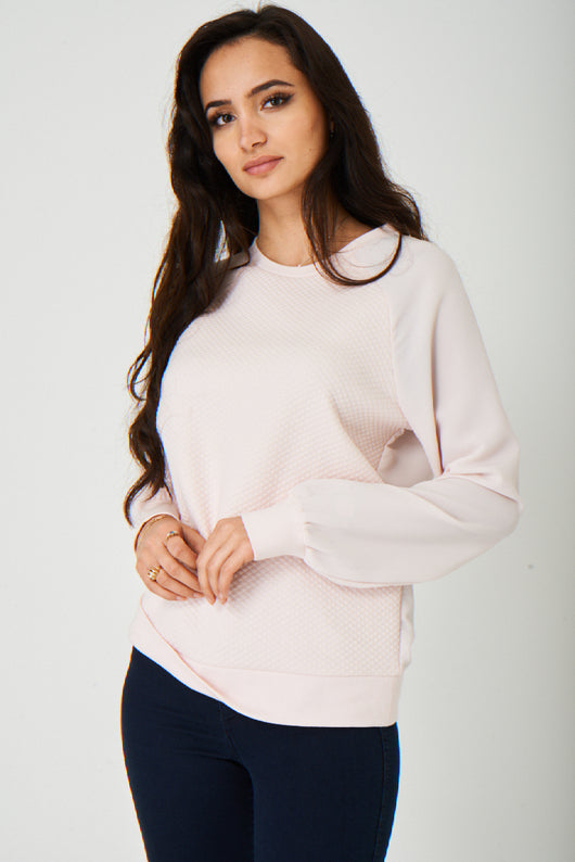 Quilted Pink Jumper-Fabulous Bargains Galore