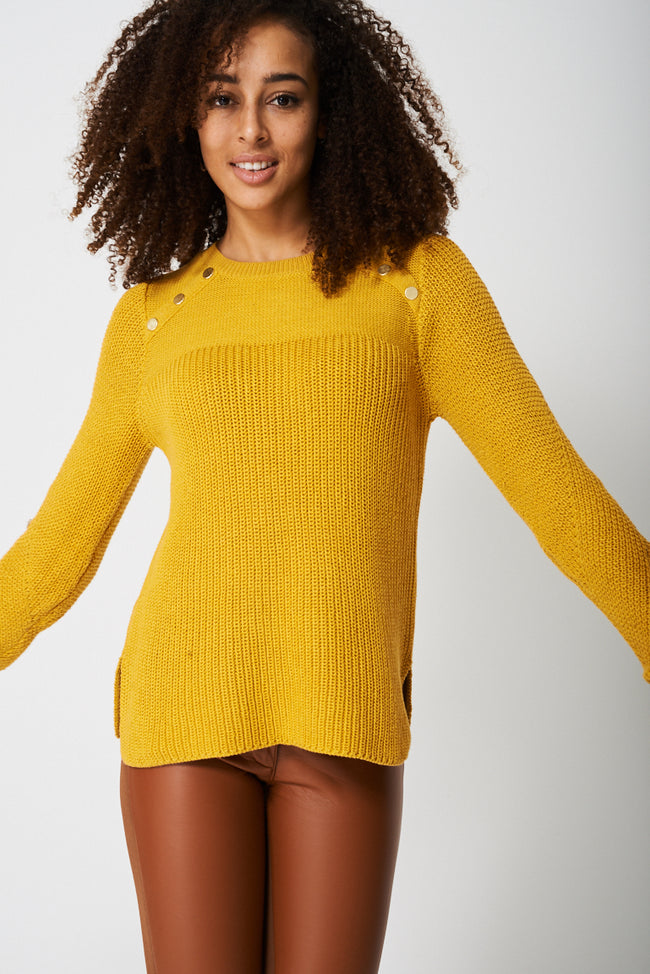 Jumper with Button Detail Ex-Branded-Fabulous Bargains Galore