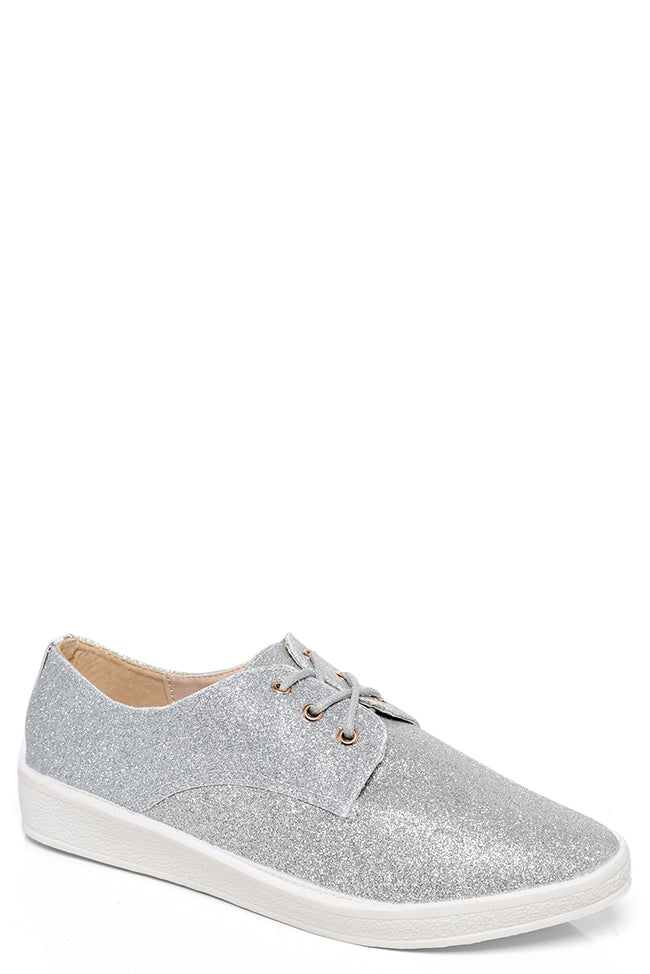 Silver Glitter Trainer-Fabulous Bargains Galore