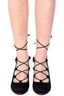 Black Lace Up Wedge-Fabulous Bargains Galore