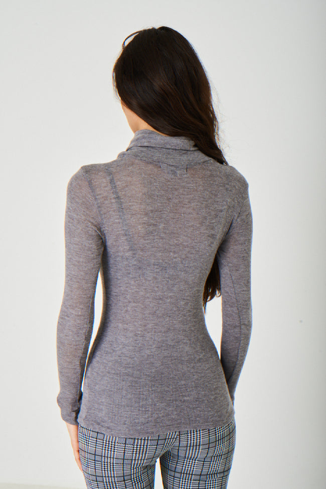 Knitted Grey Polo Neck Ex Brand-Fabulous Bargains Galore