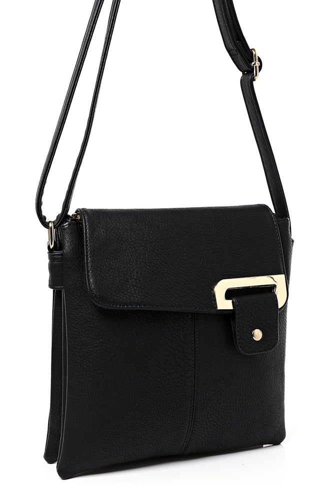 Double Compartment Cross Body Bag in Black-Fabulous Bargains Galore