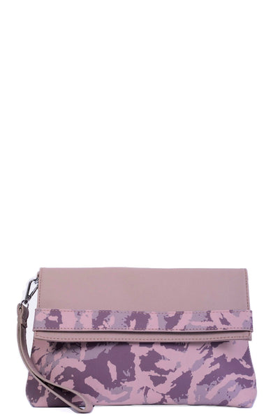 LAMODA Pink Camouflage Clutch