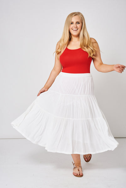 Summer Skirt In Light Cream Ex-Branded