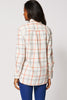 Multi Checkered Button Up Shirt Ex-Branded In Cream