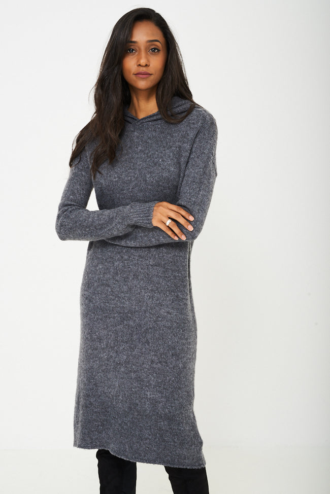 Knit Dress in Grey Ex-Branded-Fabulous Bargains Galore