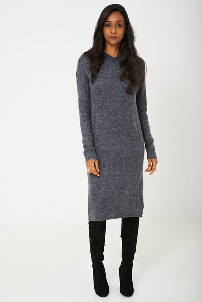 Knit Dress in Grey Ex-Branded