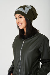 Khaki Star Hat/Neck Warmer