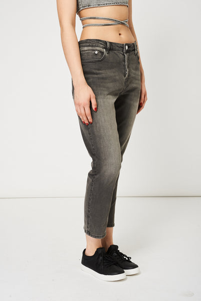 Grey Straight Leg Jeans Ex-Branded Available In Plus Sizes