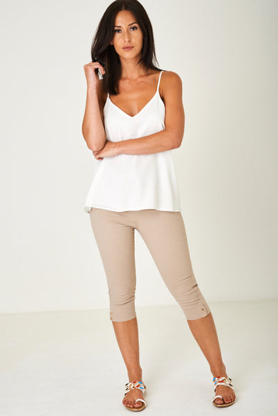 Cropped Jeans in Light Mocha-Fabulous Bargains Galore
