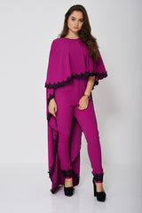 Jumpsuit and Cape Set In Light Purple