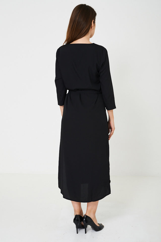 BIK BOK Black Slinky Feel Maxi Dress-Fabulous Bargains Galore