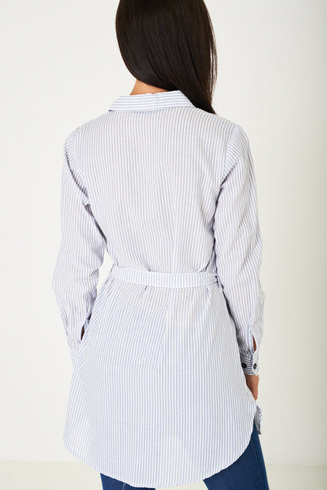 Shirt Dress in Stripes Ex Brand-Fabulous Bargains Galore
