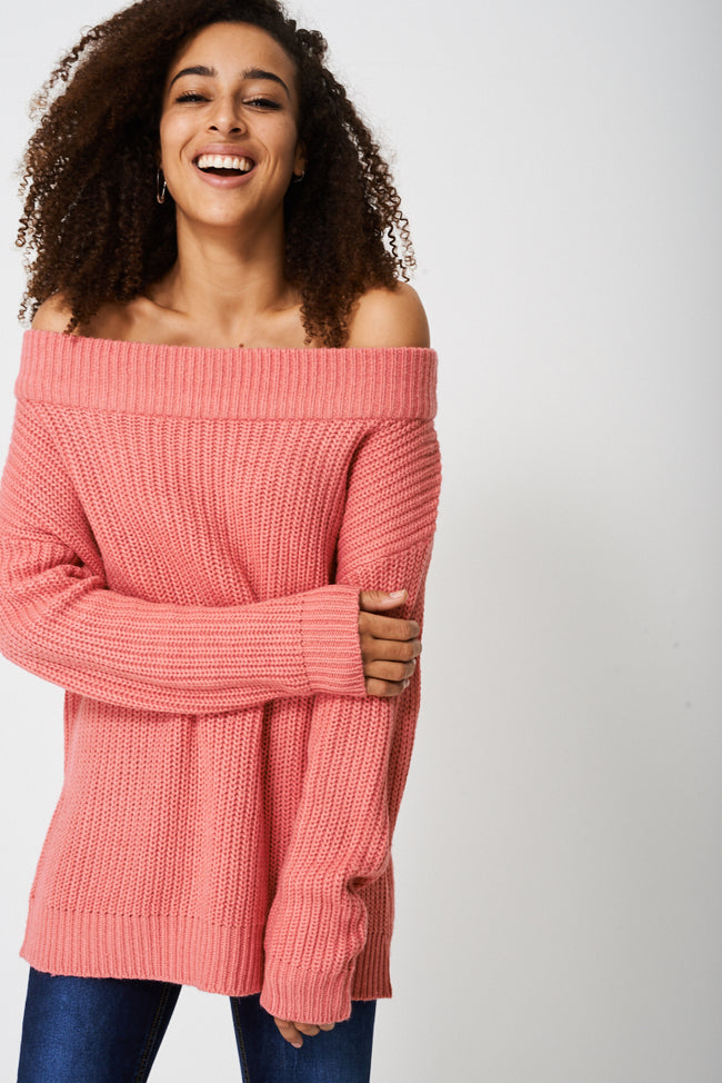 Off Shoulder Jumper Ex-Branded-Fabulous Bargains Galore