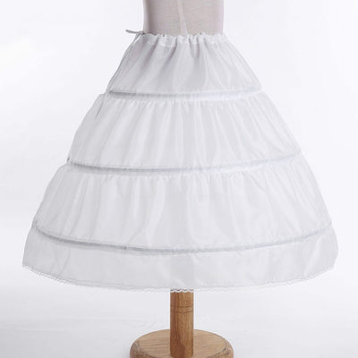 Flower girl hoop underskirt in white-Fabulous Bargains Galore