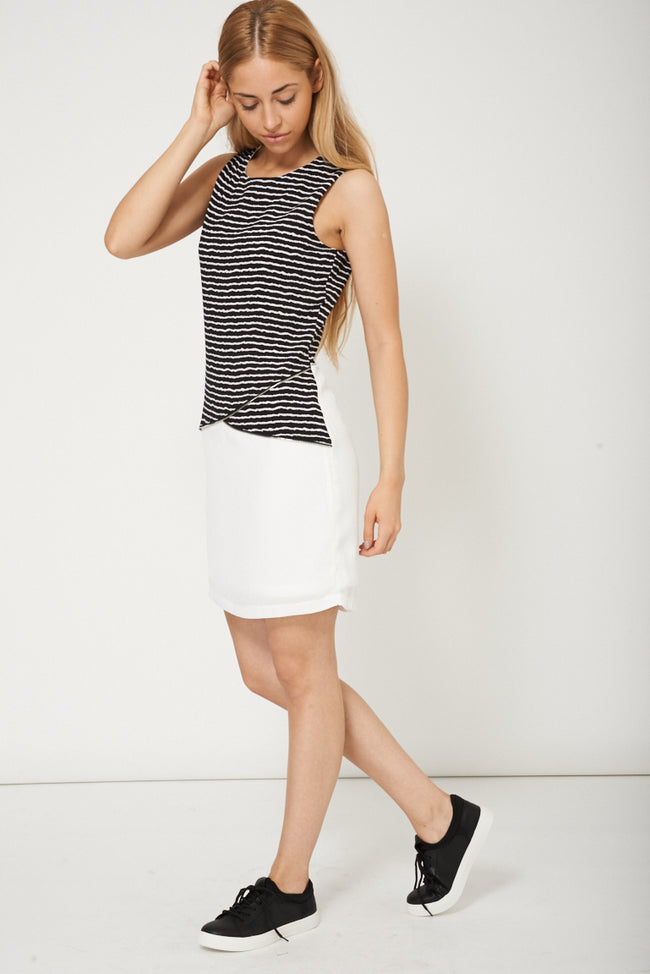 Trendy Ladies Sleeveless Dress With Zip Design-Fabulous Bargains Galore